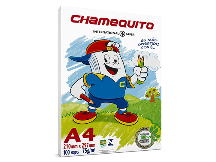 Resma A4 Chamequito 75 Gr.